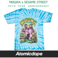 ������̵���ۡ�MISHKA x SESAME STREET��Lamour's Two Headed Monster Tee Blue Tiedye T����� Ⱦµ �� �ߥ��� x �����ߥ��ȥ꡼��