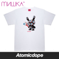 ������̵���ۡ�MISHKA x KIDROBOT��KEEP WATCH PATTERN DUNNY T����� �� TEE White �ߥ��� x ���åɥ�ܥå�