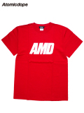 【Atomicdope】Tシャツ 赤 AMD Logo Tee Red アトミックドープ