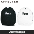 【AFFECTER】AFCT ロンT ロングスリーブ Tシャツ 長袖 黒 白 LONG SLEEVE T-SHIRTS Black White アフェクター