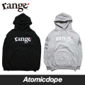 【送料無料】【range】champion basic logo pull over hoody プルオーバー パーカー 黒 灰 Black Grey レンジ