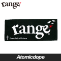 【range】cross & bat タオル 黒 towel Black レンジ