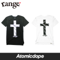 ��range��Cross x long length ��󥰥�󥰥� T����� ��Ĺ Ⱦµ �� �� s/s tee Black White ���