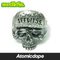������̵���ۡ�seedleSs��SD SKULL ��� ���� ����С� RING Silver Green �����ɥ쥹