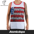 ������̵���ۡ�FAMOUS STARS AND STRAPS x SLICK��SLICK FLAG MENS TANK White ���󥯥ȥå� �ۥ磻�� �� �ե����ޥ�������������ɥ��ȥ�åץ� x ����å�