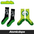 【seedleSs】BIG SPROUT / BIG DOT ソックス 靴下 黒 緑 SOX Black Green シードレス