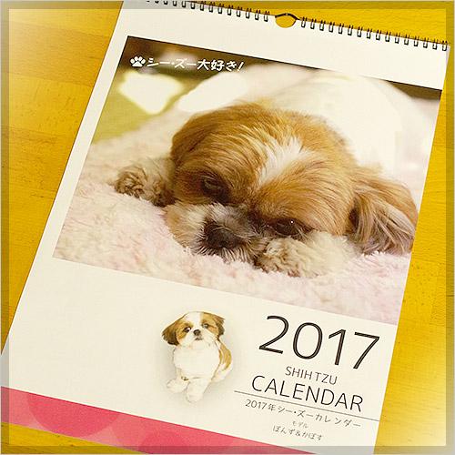 2017年度版シーズー大好きA3壁掛けカレンダー《モデル:ぽんず&かぼす》