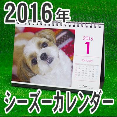 2016年シーズーカレンダー