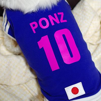 犬用サッカーユニフォーム(なでしこ)ピンク色