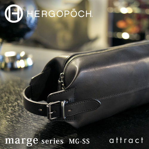 HERGOPOCH エルゴポック Marge マージ Basked Leather バスクドレザー MG-SS 2way クラッチバッグ ボディバッグ MG-SS