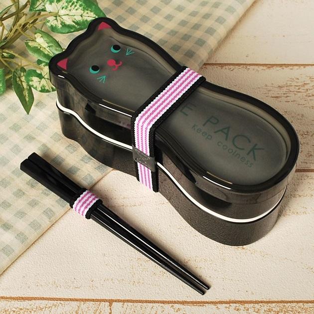 【かわいいお弁当箱】猫モチーフランチボックス メイン