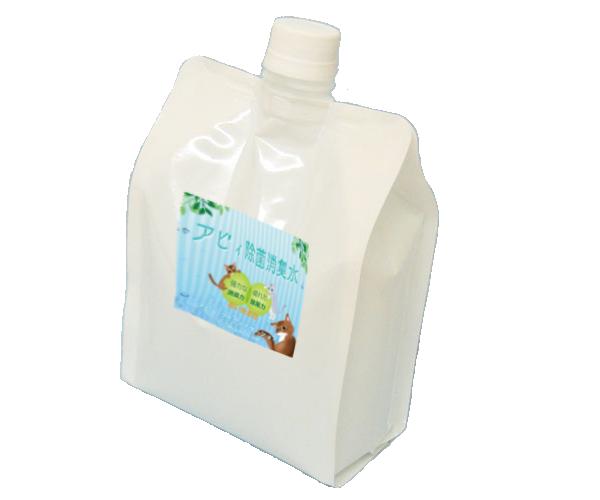 (キャップ袋タイプ)猫の尿の消臭や身の周りの除菌対策に安心安全な「アビィ除菌消臭水1000mL」