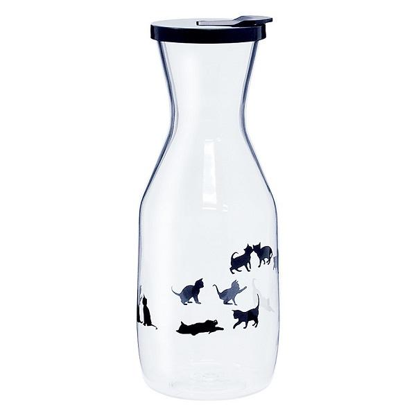 かわいい黒猫柄ウォーターボトル1000ml