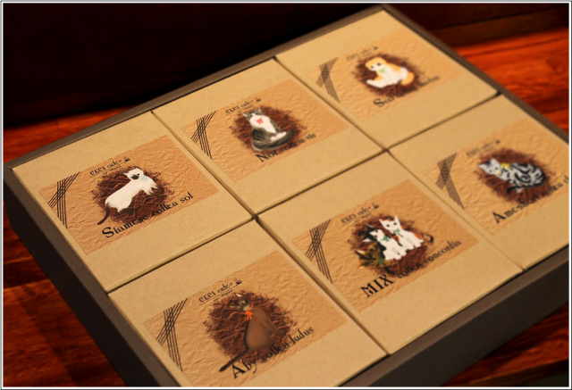 (cecicafe)猫デザインドリップバッグコーヒーギフトセット10g×5袋6箱入り 中身