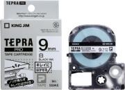 キングジム 「テプラ」 PROカートリッジ 再剥離 白テープ黒文字9mm SS9KE