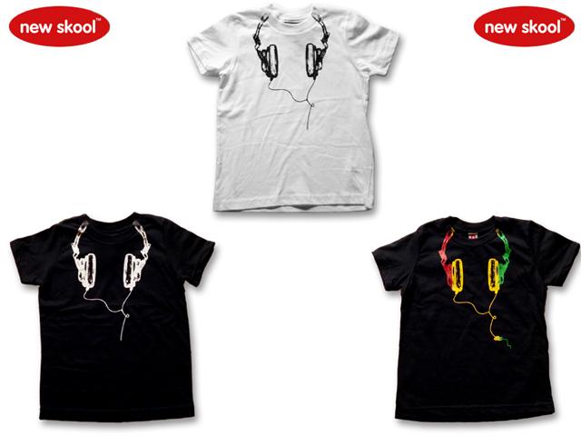 NEW SKOOL ヘッドホンTシャツ