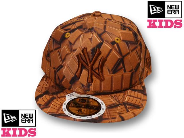 【激安セール! 30%OFF!】NEW ERA KIDS 59FIFTY CHOCOLATE CAP【ニューエラ キッズサイズ キッズダンス衣装 帽子】