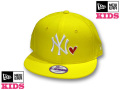 NEW ERA KIDS YOUTH 9FIFTY WITH HEART SNAPBACK CAP(YELLOW)�ڥ˥塼���� ���å������� ���å����󥹰�����