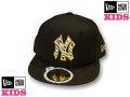 NEW ERA KIDS 59FIFTY ZEBRA CAP(BLACK��GOLD)  �ڥ˥塼���� ���å������� ���å����󥹰�����