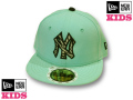 NEW ERA KIDS 59FIFTY ZEBRA CAP(BLUE TINT��BLACK)  �ڥ˥塼���� ���å������� ���å����󥹰�����