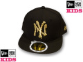 NEW ERA KIDS 59FIFTY MELT CAP(BLACK��GOLD)  �ڥ˥塼���� ���å������� ���å����󥹰�����