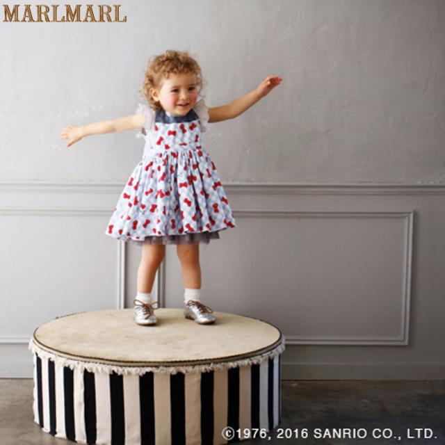 マールマールお食事エプロンブーケシリーズ【HelloKitty】Hello Kitty×gingham bouquet for baby/MARLMARL/ハローキティ/スタイ/出産祝い/女の子/当日発送