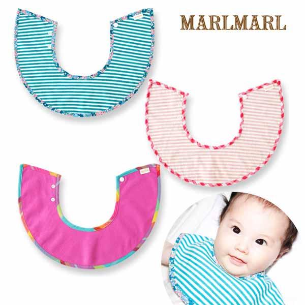 マールマールマルシェシリーズ3枚セット【marche for girls】マルシェガール/MARLMARL/スタイ/出産祝い/女の子/即日発送