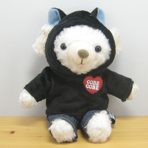 COBE COBE(コービーコービー) どうぶつパーカーCOBE ぬいぐるみMサイズ 黒猫