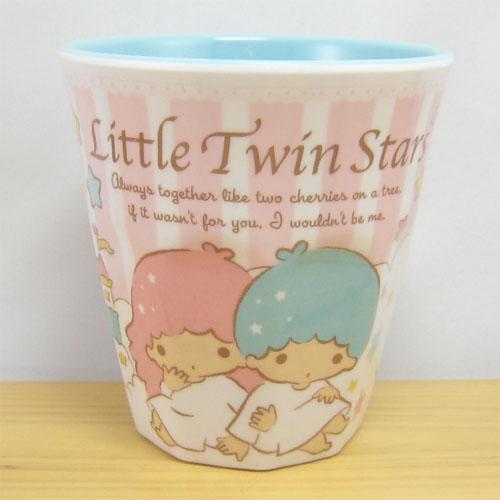 サンリオ リトルツインスターズ(キキ&ララ) メラミンカップ(ピンク)