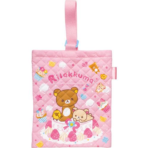 リラックマ ゴーゴースクールシリーズ ケーキデザイン シューズバッグ