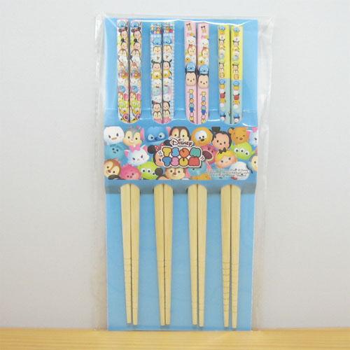 ディズニー TSUMTSUM ツムツム お箸4膳セット(オールスターズ)
