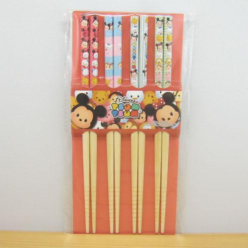 ディズニー TSUMTSUM ツムツム お箸4膳セット(ミッキーフレンズ)