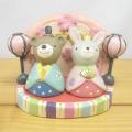 NAUGHTY(ノーティー) おひなさまノーティー セット クマ&ウサギ(ウサギ・クマ・ひな台セット)