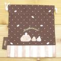 カピバラさん Sweets Collection 巾着Sサイズ(クリーム)