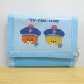 くまのがっこう 『がんばれ!ルルロロ TINY★TWIN★BEARS』 横型ウォレット(ブルー)