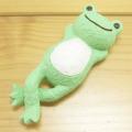 カエルのピクルス(かえるのピクルス) シュシュピクルス(chou chou pickles) クラフトシリーズ レジンドール 仰向け(グリーン)