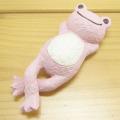 カエルのピクルス(かえるのピクルス) シュシュピクルス(chou chou pickles) クラフトシリーズ レジンドール 仰向け(ピンク)