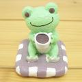 カエルのピクルス(かえるのピクルス) シュシュピクルス クラフトシリーズ レジンドール コーヒー(グリーン)