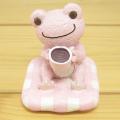 カエルのピクルス(かえるのピクルス) シュシュピクルス クラフトシリーズ レジンドール コーヒー(ピンク)