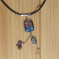 バーグ限定 手作り雑貨 ビーズアクセサリー ネックレス トンボ玉のネックレス