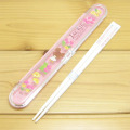 くまのがっこう プッシュ式箸&ケース18cm(リトルスマイル)