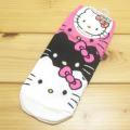 サンリオ ハローキティ(Hello Kitty)  ソックス 重なりデザイン ピンク 【靴下 レディース】