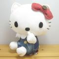 サンリオ ハローキティ(Hello Kitty) EDWIN×ハローキティ デニムプリントぬいぐるみ