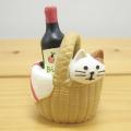 DECOLE(デコレ) concombre(コンコンブル) まったりマスコット お花見シリーズ 子猫とワイン
