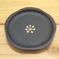 DECOLE(デコレ) concombre(コンコンブル) まったりマスコット 菓匠もち猫本舗 小梅の豆皿・黒