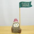 DECOLE(デコレ) concombre(コンコンブル) 森のクリスマス スティックマスコット 森のふくろう