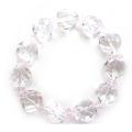 ハート型水晶&ピンク水晶ブレスレット 14ミリのハート型水晶&カット水晶11セット