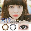 EYESN【度あり・度なし】S12-BLACK(1年2枚/送料無料)激安カラコンDIA:14.5mm