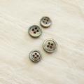 【定番 ボタンダウンシャツ用 貝ボタンセット (厚みのあるボタン 3mm厚)】黒蝶貝 貝ボタン#00017 4穴10mm15個&9mm5個【定番 10%OFF】