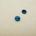 【丸型(染めボタン)】黒蝶貝 貝ボタン#00104 2穴10mm C/#BLUE